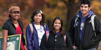 Students on the K-State campus